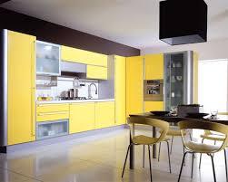 cuisine moderne jaune cuisine decoration style moderne