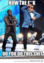 Gangnam Style Meme - kevin hart trying to do gangnam style meme hysteria pinterest