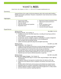best delivery driver resume example livecareer
