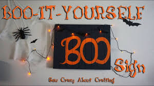 boo it yourself wooden halloween sign youtube