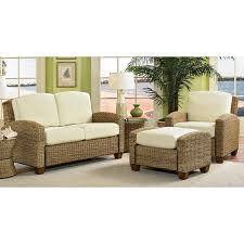 Sun Room Furniture Furniture Ratan With Ivory Cuhsion Sunroom Furniture For