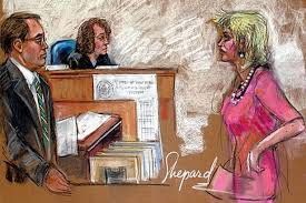 lindsay lohan courtroom sketch but can you identify the other