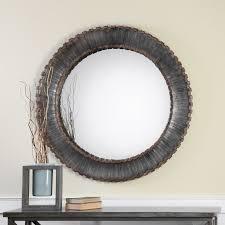 Uttermost Mirrors Free Shipping Uttermost Bricius Round Metal Mirror 40 Diam In Hayneedle