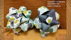 gift bow diy diy gift bow with stin up dsp s paper craft ideas