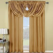 r t soho waterfall window treatment rod pocket gold
