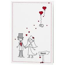 dessin mariage menu mariage dessin mariés humoristique coeurs belarto