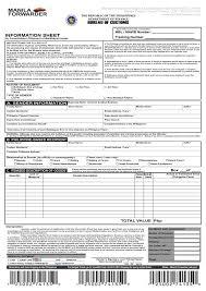 packing list form manila forwarder