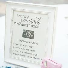 poloroid guest book wedding guestbook sign ideas