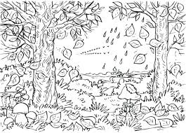 fall coloring pages preschoolers free preschool autumn trees
