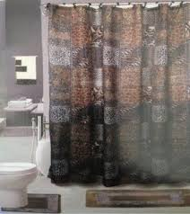 Leopard Bathroom Rugs Leopard Print Shower Curtain Foter