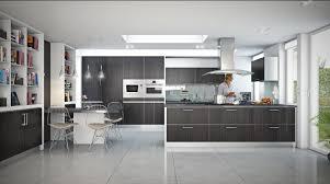 Modern Open Kitchen Design Kitchen Stylish And Modern Open Kitchen Design With Bookshelves
