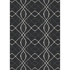 Chevron Print Area Rugs by Ruggable Washable Amara Black 5 Ft X 7 Ft Stain Resistant Area