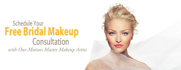 schedule your free bridal makeup consultation with our motives master makeup artist