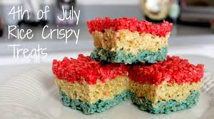 fourth of july rice krispies treats how to make youtube