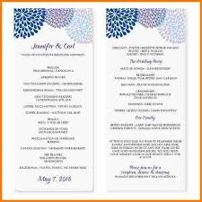 Blank Wedding Program Templates 4 Event Program Template Receipt Templates