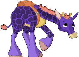 purple little giraffe gif by future pictures on deviantart