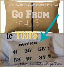 How To Make A Map Our Hopeful Home How To Make A Map Coordinates Pillow Ikea