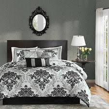 Damask Print Comforter Black And White Damask Bedding Ebay
