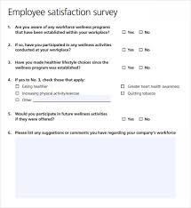 employee satisfaction survey 8 download free documents in