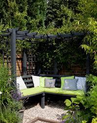 modern garden with arbour and climbing plants garden outdoor