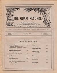 the guam recorder vol 3 no 10 january 1927 by guampedia