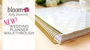 bridal planner bloom daily planner s new wedding planner walkthrough