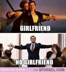 Single Relationship Memes - single vs in a relationship as shown by leo dicaprio b for bel