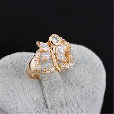 large ladies rings images Large size wedding rings 18k gold plating white color zircon jpg