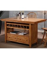 oak kitchen island bargains on four seasons rustic oak kitchen island by eci