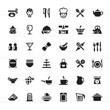 symbole cuisine cuisine ustensile de cuisine symboles et icônes vectorielles