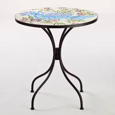 Black Bistro Table Dining Room Rio Bird Cadiz Mosaic Bistro Table With Black Legs