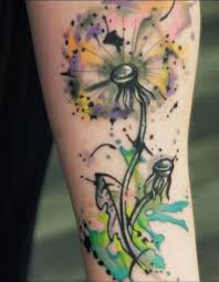 simple and oldest dandelion tattoo design idea golfian com