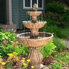 landscape decorative fountain design with yellow under