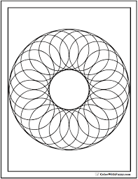 geometric shape coloring pages funycoloring