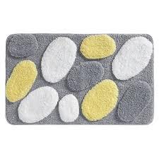 Yellow And Gray Rugs Amazon Com Interdesign Pebblz Rug 34 X 21