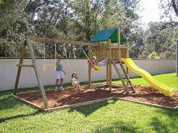 spring is the perfect time to install a new backyard swing set or
