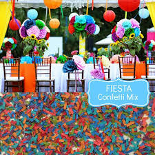 fiesta wedding confetti biodegradable chic wedding decoration