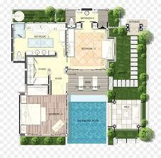 villa plan melati resort spa swimming pool house plan villa plan png