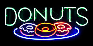 custom light up signs donut shop lights light up neon donuts sign storefront