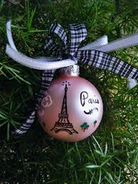 eiffel tower ornament personalized vacation