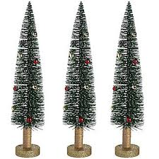 glitter tree trio decorations