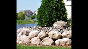 Garden Rock Wall by Rock Wall Ideas Youtube