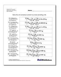 conversion practice worksheet metric si mass