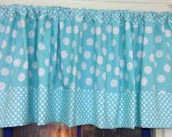 Black And White Polka Dot Valance Teal Valance Etsy