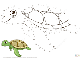 sea turtle dot to dot free printable coloring pages
