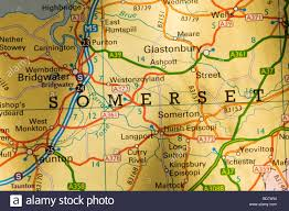 Somerset England Map Map Of Somerset Uk Stock Photo Royalty Free Image 25358344 Alamy