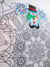 let it snowman christmas mandala candy hippie coloring pages
