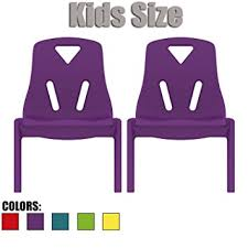 amazon com 2xhome set of two 2 purple kids size plastic