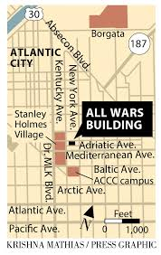 Atlantic City Map What The All Wars Memorial Building Means To Atlantic City A C