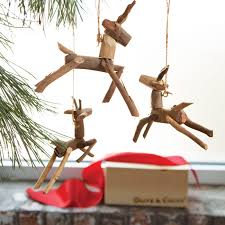 driftwood reindeer ornaments clearance olive cocoa